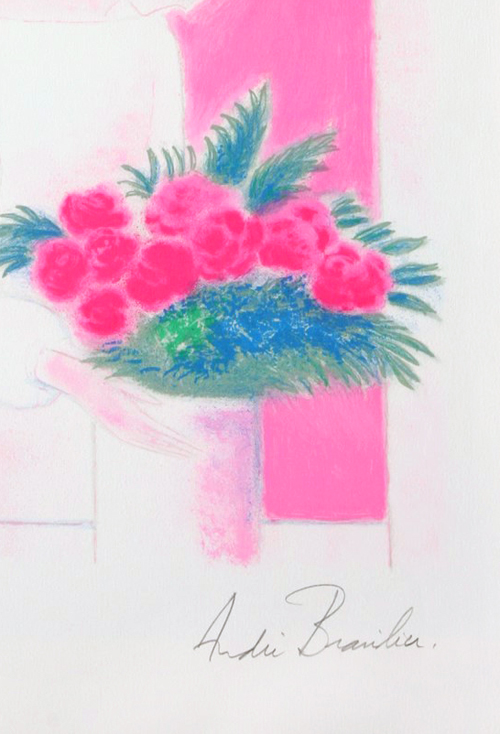 Andre Brasilier Heure Rose Lithograph