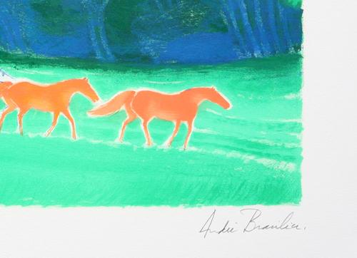 Andre Brasilier Lithograph Promenade en lisieres