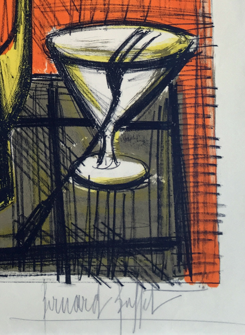 Bernard Buffet Le Cafetiere Lithograph