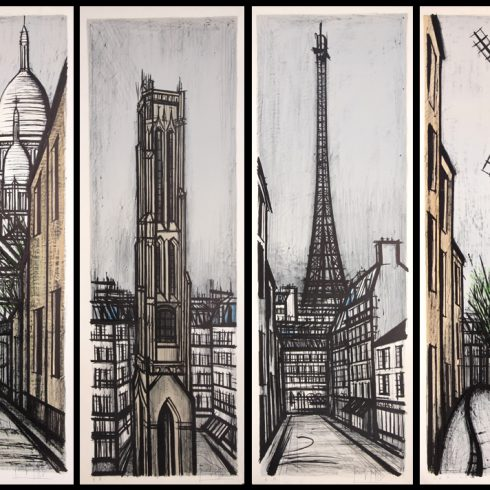 Bernard Buffet Paravent Suite for Sale