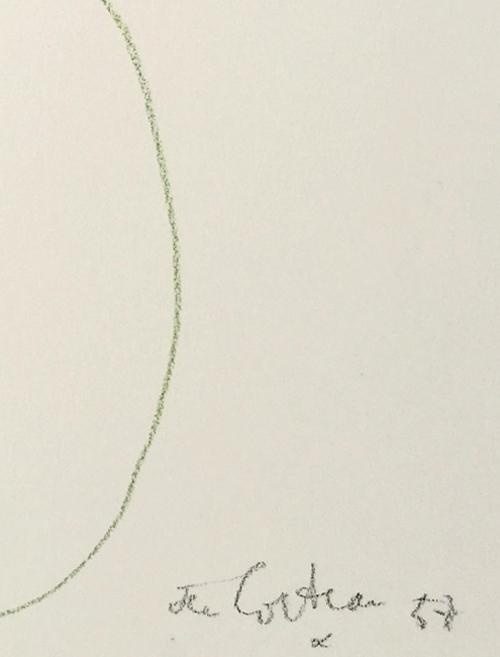 Original Jean Cocteau Drawing Man and Woman