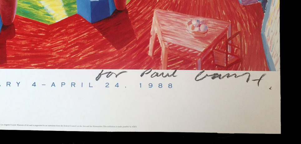 David Hockney Poster Prints Signed