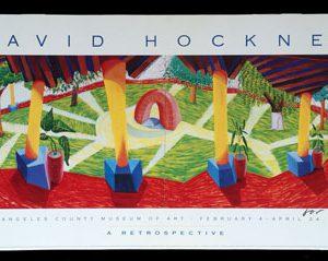 David Hockney Posters Hotel Courtyard Acatlan