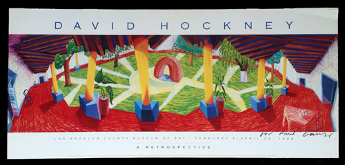 David Hockney Posters Hotel Courtyard Acatlan