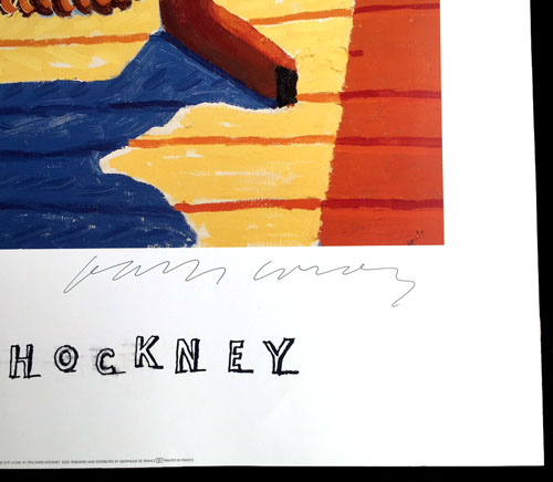David Hockney Posters Signed