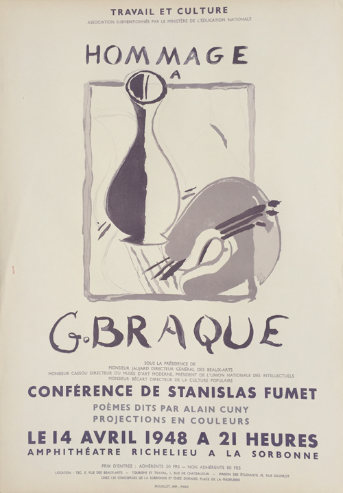 Braque Poster Hommage a G. Braque