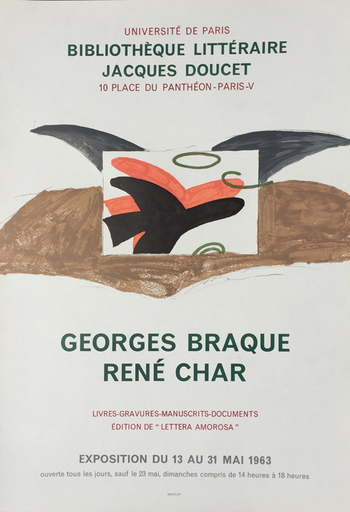 Georges Braque - Rene Char Poster