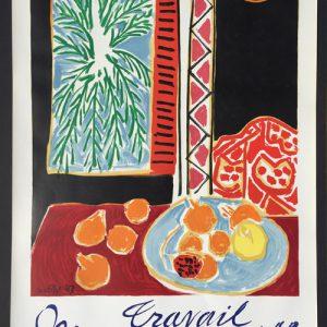 Henri Matisse Poster Travail et Joie Ville de Nice