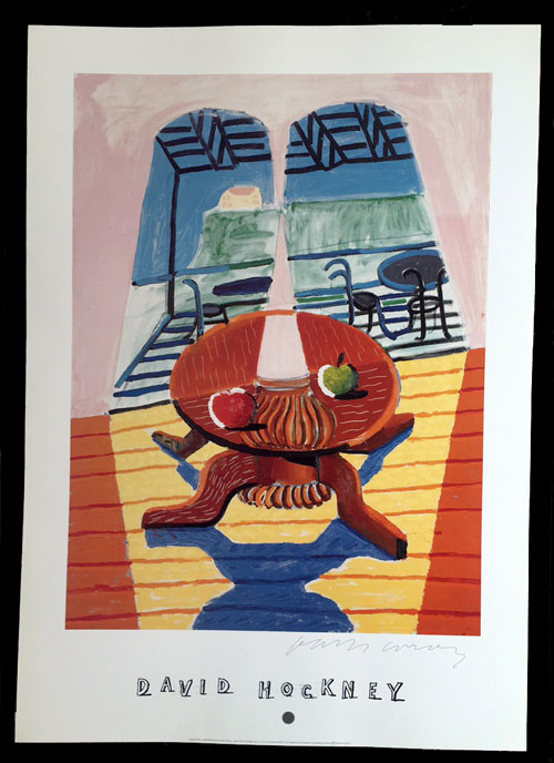Hockney Poster - Christopher and Don's Dining Room