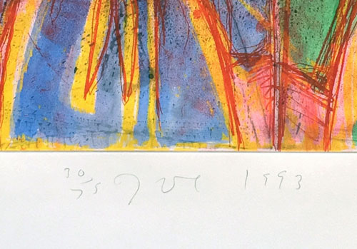 Jim Dine Behind the Thicket 1993