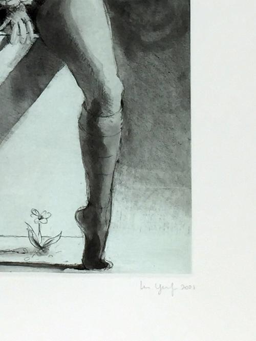 Lisa Yuskavage Kathy on Pedestal Print
