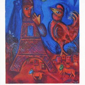 Marc Chagall Bonjour Paris Sorlier 43