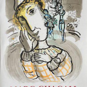 Marc Chagall Poster Cirque au Clown Jaune