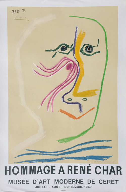 Pablo Picasso Hommage a Rene Char