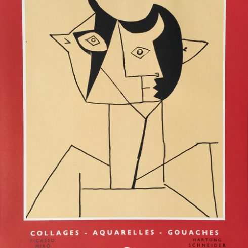 Picasso Poster Collages Aquarelles Gouaches