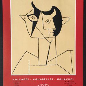 Picasso Poster Collages Aquarelles Gouaches