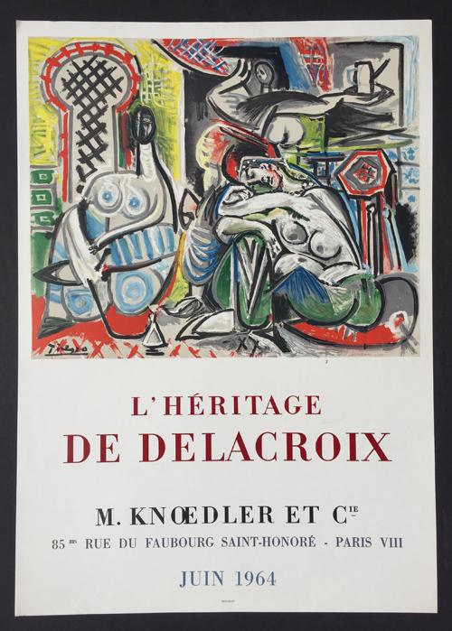 Picasso Poster Heritage de Delacroix