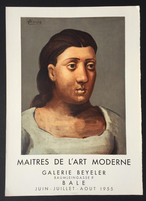 Picasso Poster Maitres de Art Moderne