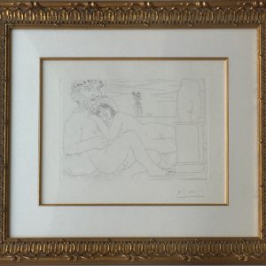 Picasso Vollard Suite - Le Repos du Sculpteur devant le Petit Torse