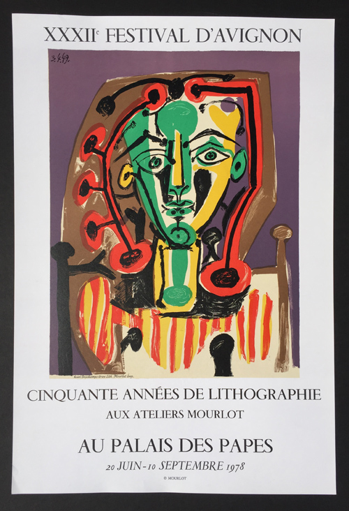Picasso XXXII Festival d'Avignon Poster