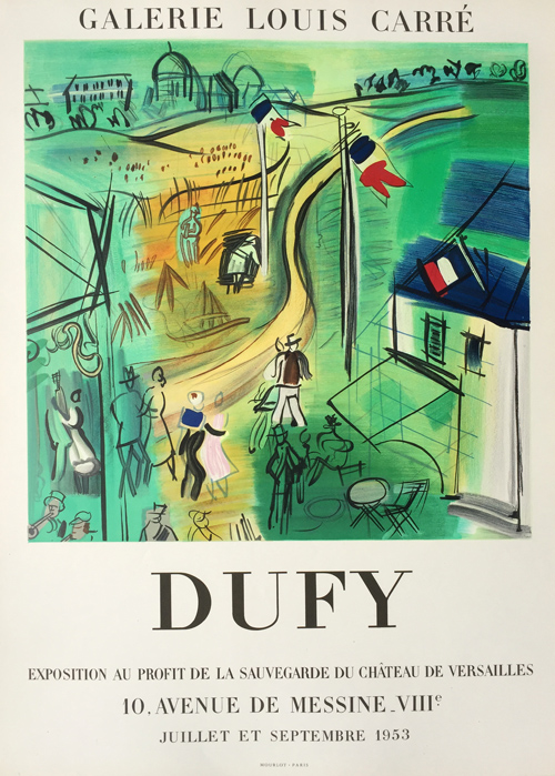 Raoul Dufy Poster Galerie Louis Carre 1953