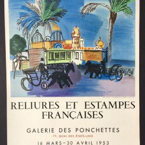 Raoul Dufy Ville de Nice Reliures et Estampes Francaises