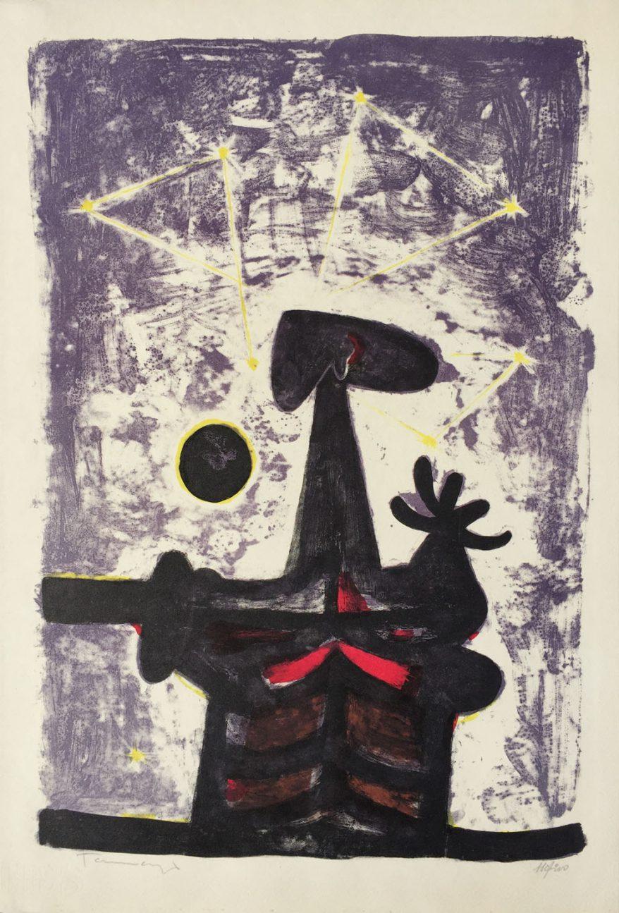 Rufino Tamayo Hombre, Luna y Estrellas