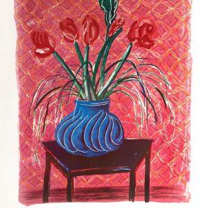 Amaryllis in a Vase (Signed)