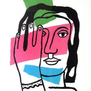 Fernand - Leger - Tete - de - Femme - Lithograph