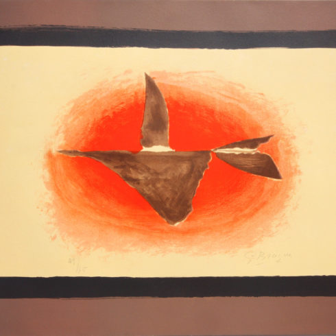 au couchant oiseau by georges braque