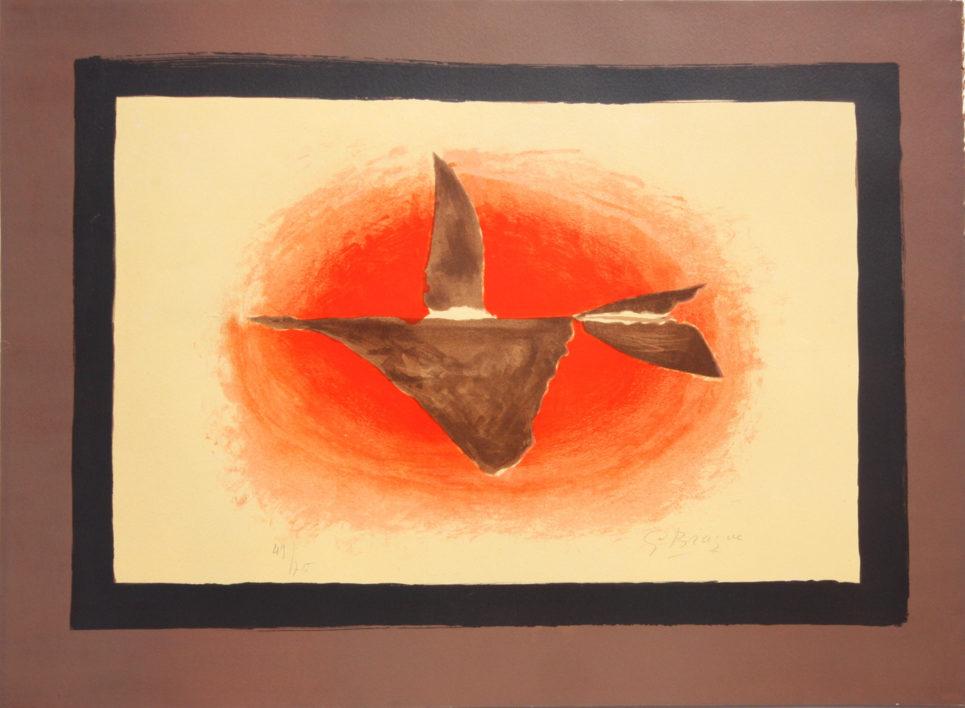 au couchant oiseau 1958 by georges braque