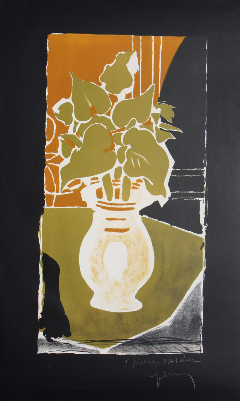 feuilles couleurs lumiere 1953 by georges braque