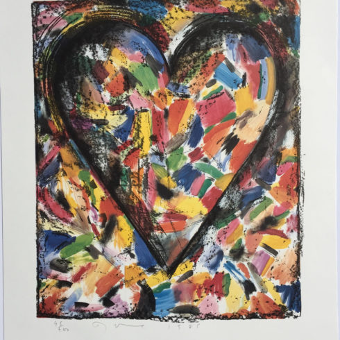 the confetti heart by jim dine
