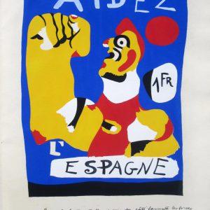 Joan Miro Aidez Espagne Help Spain 1937