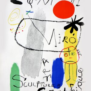 Joan Miro Galerie Maeght Personnage au Soleil Rouge I