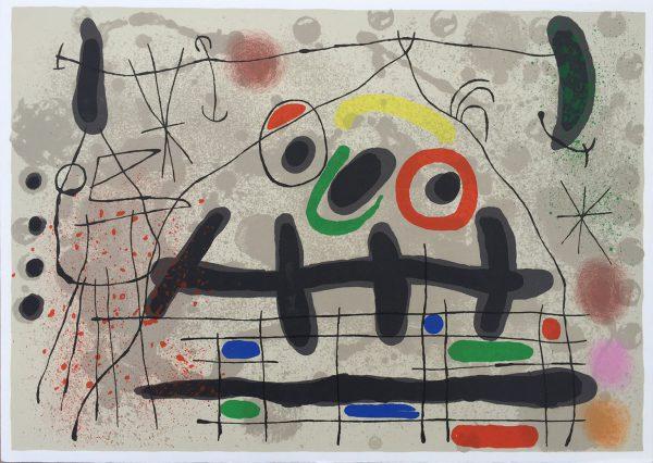 Joan Miro Lezard aux Plumes d'Or M461