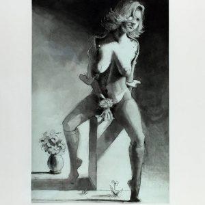 Kathy on a pedestal