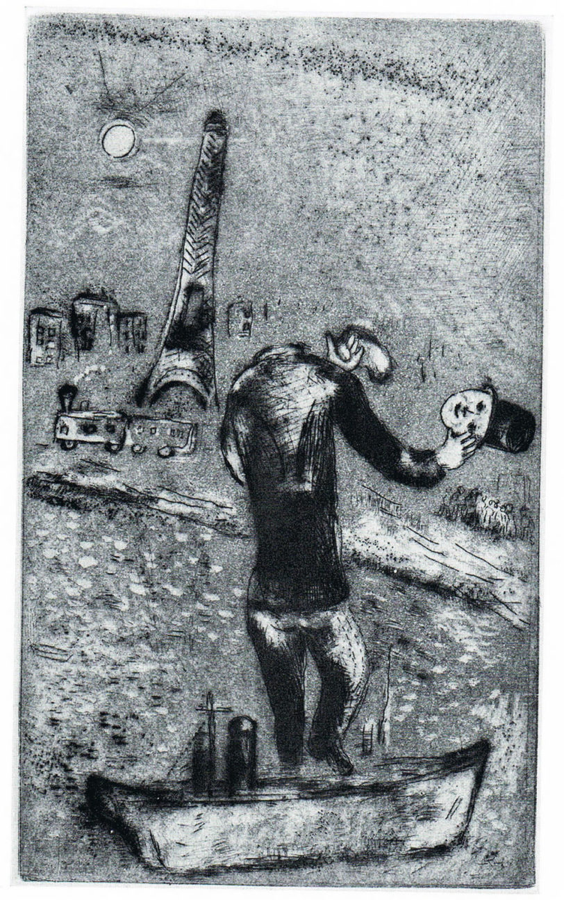 ouvert la nuit by marc chagall