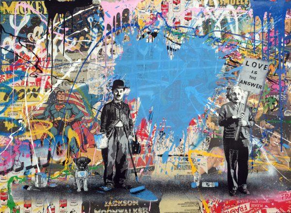Juxtapose – Blue Heart (Mixed Media)