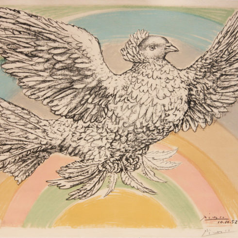 colombe volant by pablo picasso