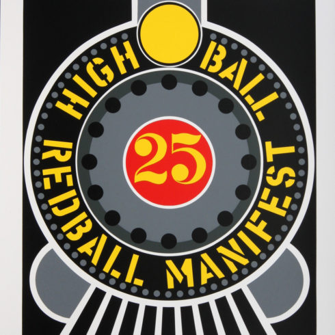 high ball on redball manifest by robert indiana