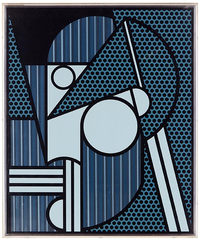 modern head #4 by roy lichtenstein