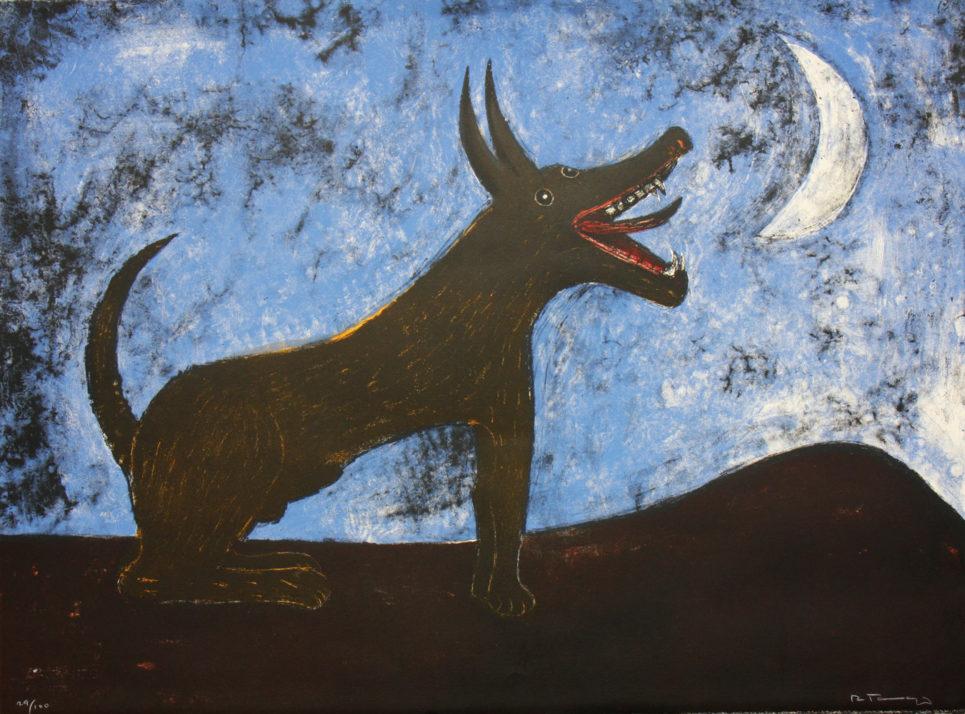 perro de luna by rufino tamayo