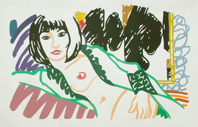 monica with motherwell by tom wesselmann
