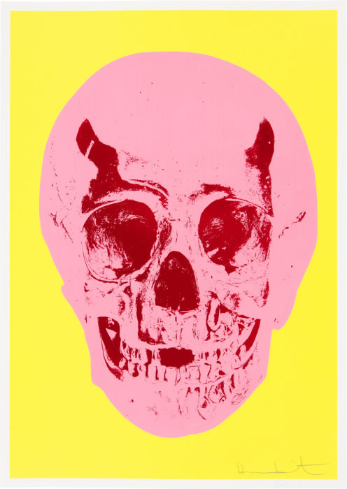 Damien Hirst Til Death Do Us Part Pink Yellow