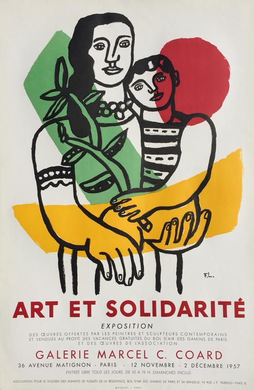 Fernand Leger Poster Art et Solidarite