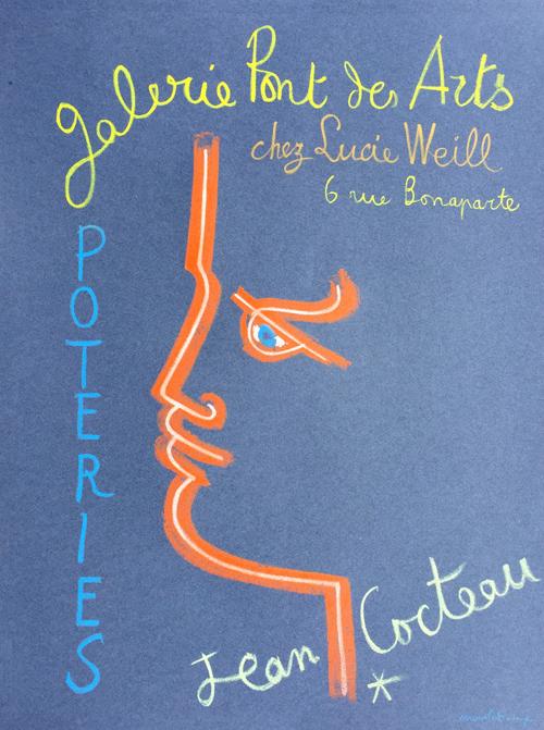 Jean Cocteau Galerie Pont des Arts Poteries