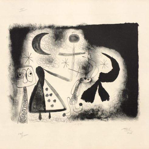 Album 13 Plate V by Joan Miro