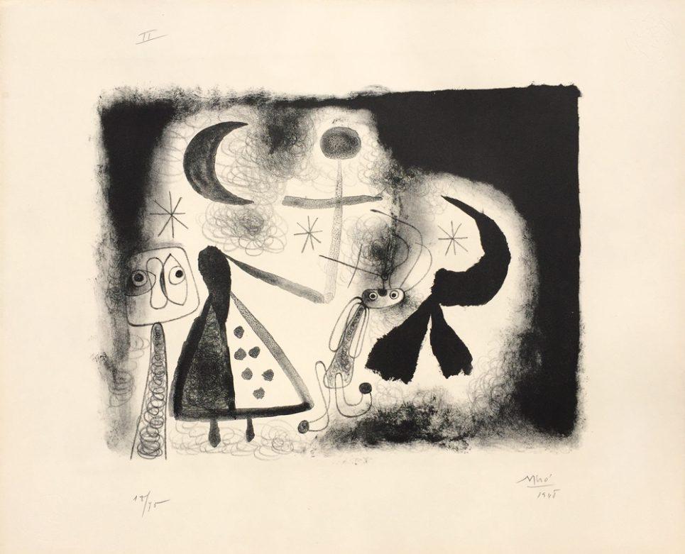 Album 13 Plate V by Joan Miro