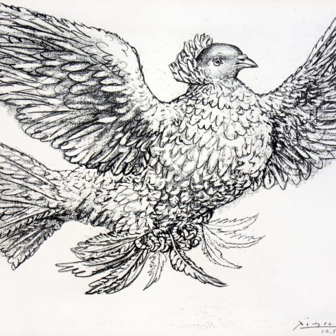 Pablo Picasso Dove Flying Lithograph